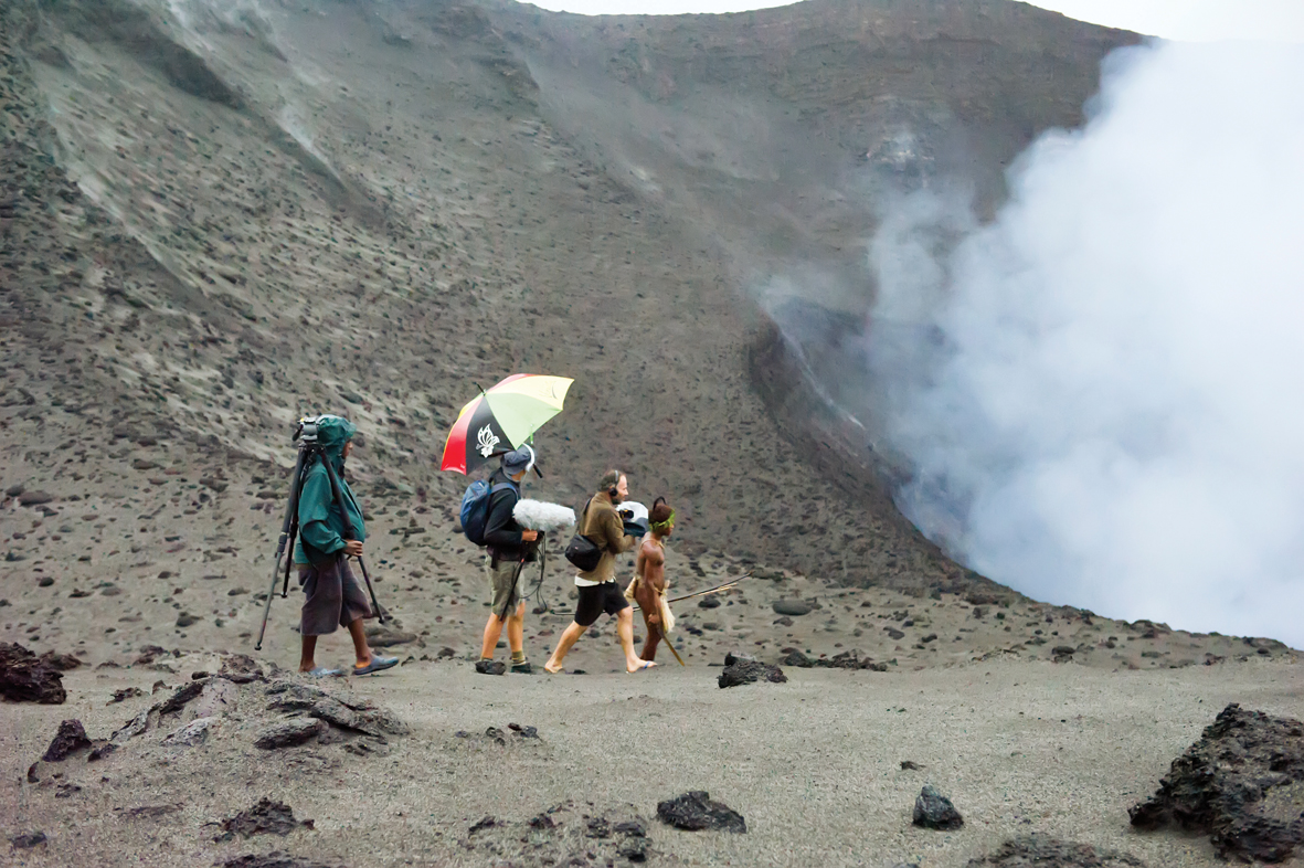 smCrew filming Dain at crater