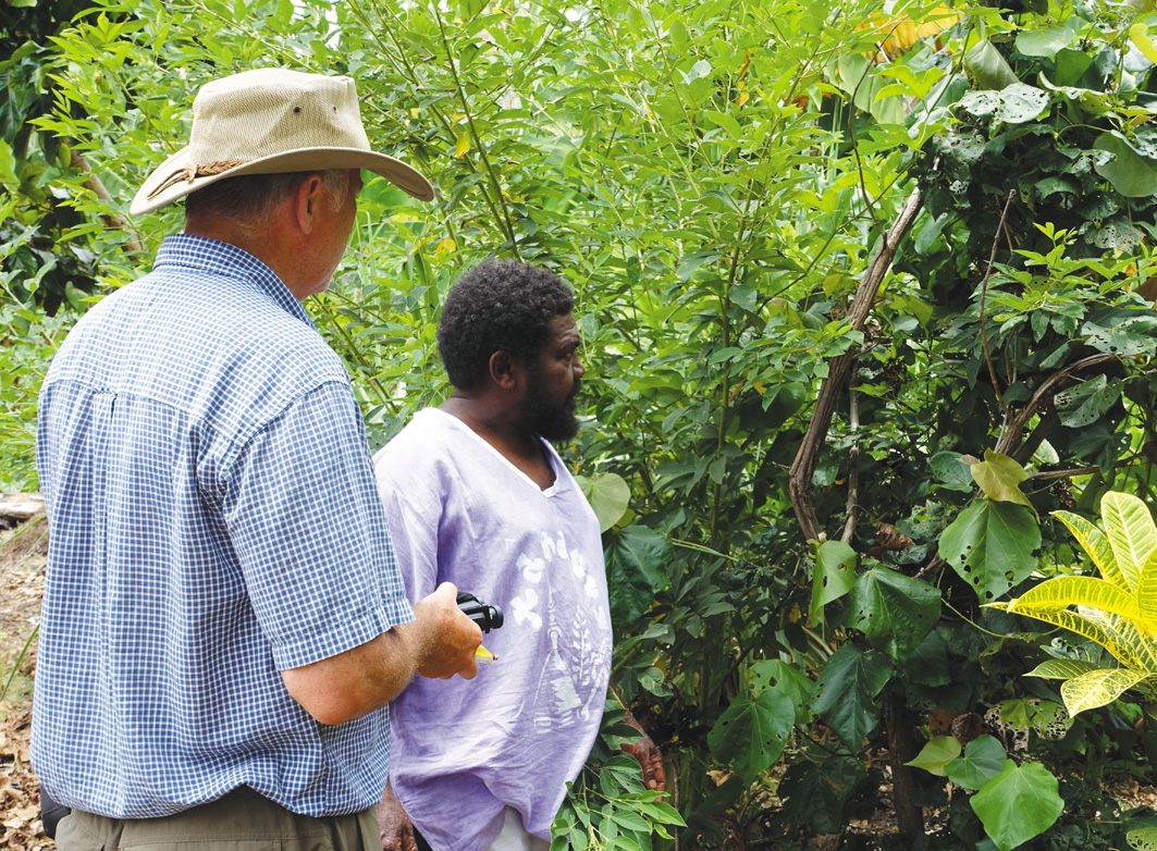 Greg and Reuben talking about Hibiscus